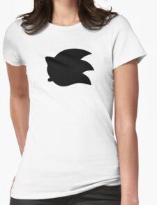 Sonic the Hedgehog Symbol - Super Smash Bros. (black) Womens Fitted T-Shirt