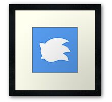 Sonic the Hedgehog Symbol - Super Smash Bros. (white) Framed Print