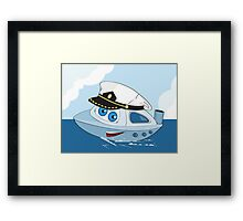 Cute ship-captain Framed Print