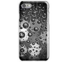 Macro Water Droplets BW iPhone Case/Skin