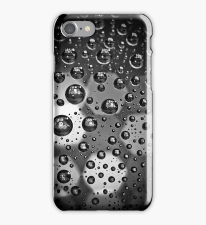 Macro Water Droplets BW iPhone Case/Skin