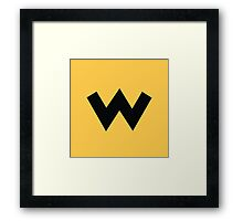 Wario Symbol - Super Smash Bros. (black) Framed Print
