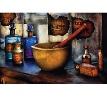 Pharmacist - Mortar and Pestle Photographic Print