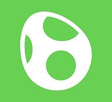 Yoshi Symbol - Super Smash Bros. (white) by hopperograss