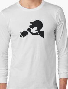 Game & Watch Symbol - Super Smash Bros. (black) Long Sleeve T-Shirt