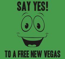 Fallout Yes Man Free New Vegas T-Shirt
