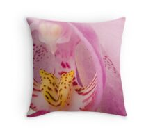 Orchid Macro Throw Pillow