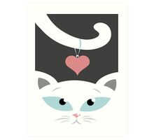 cat in love Art Print