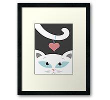 cat in love Framed Print