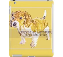 Happiness is a Warm Puppy iPad Case/Skin