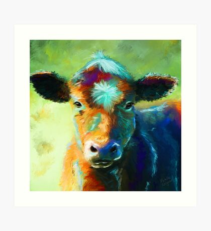 Colourful Calf Painting Art Print