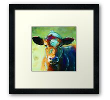 Colourful Calf Painting Framed Print