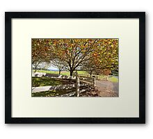 Landsc ape in the Autumn Fall Framed Print