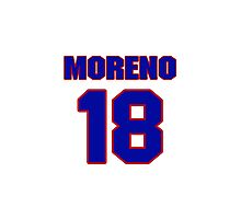 National baseball player Omar Moreno jersey 18 Photographic Print