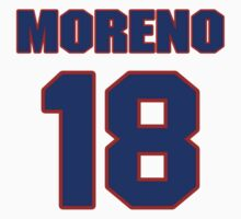 National baseball player Omar Moreno jersey 18 by imsport