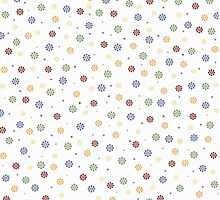 Colorful Snowflakes Pattern by solnoirstudios