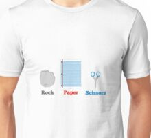Rock, paper and scissors. Unisex T-Shirt