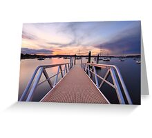 Sunset at Saratoga Australia Greeting Card