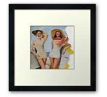 1950's Bathing Beauties Framed Print