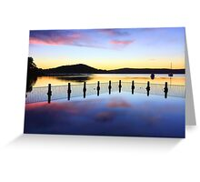 Tranquility at Yattalunga seascape Greeting Card