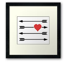 Cupid's Arrow Valentine's Day Heart Framed Print