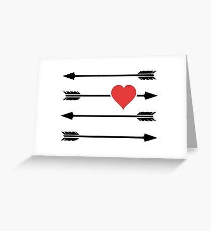 Cupid's Arrow Valentine's Day Heart Greeting Card