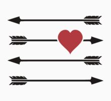 Cupid's Arrow Valentine's Day Heart by TheShirtYurt