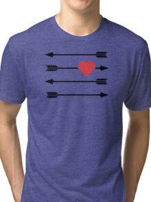 Cupid's Arrow Valentine's Day Heart Tri-blend T-Shirt