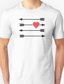Cupid's Arrow Valentine's Day Heart Unisex T-Shirt