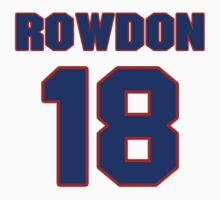 National baseball player Wade Rowdon jersey 18 by imsport