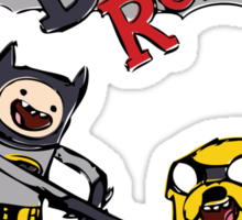 Adventure Time with Batman and Robin Sticker