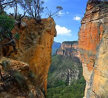 Burramoko Head and Hanging Rock in NSW Blue Mountains Australia landscaps by Leah-Anne Thompson