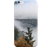 Incoming Clouds Engulf a Highway Bridge iPhone Case/Skin