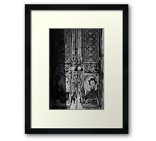 Mausoleum Door II Framed Print