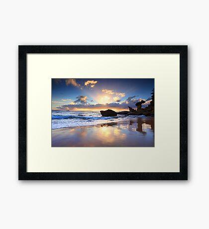 Beach sunrise at Noraville NSW Australia seascape landscape Framed Print