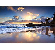 Beach sunrise at Noraville NSW Australia seascape landscape Photographic Print