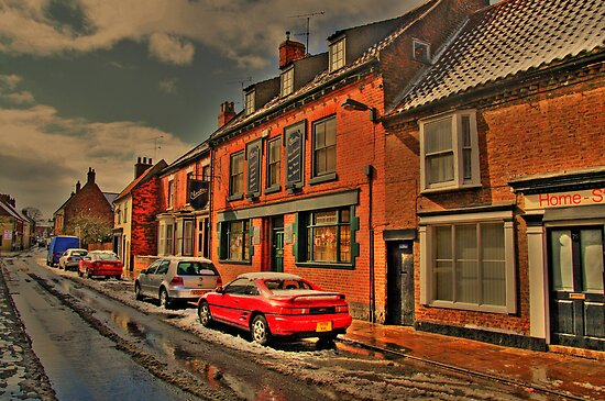 Snowy Street Scene by Ian Foss