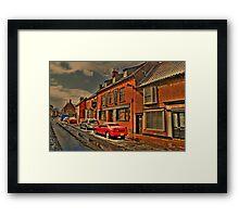 Snowy Street Scene Framed Print