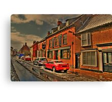 Snowy Street Scene Canvas Print
