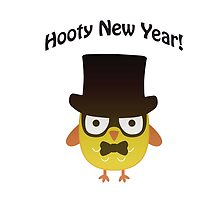 Hooty New Year! Hipster Owl by Eggtooth