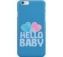 HELLO BABY newborn child greeting blue iPhone Case/Skin