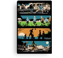 The Story of Football Canvas Print