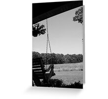 Swing, swing... Greeting Card