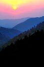 SMOKY MOUNTAIN SUNSET by Chuck Wickham