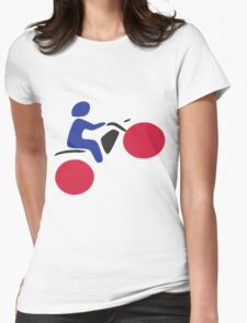 Motorcross Womens Fitted T-Shirt