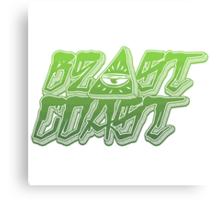 Beast Coast Green Canvas Print