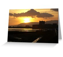 sunset over the castle ... Greeting Card