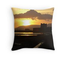 sunset over the castle ... Throw Pillow