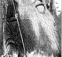 Charles Darwin Caricature 1873 by hamlet-and-sons