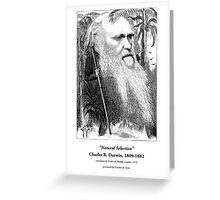 Charles Darwin Caricature 1873 Greeting Card